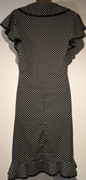 BLACK WHITE SPOTTY WRAP FRONT TEA DRESS SIZE UK 18